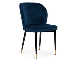 Krzesło AINE granatowy/ noga czarny gold/ BL86 Bettso
