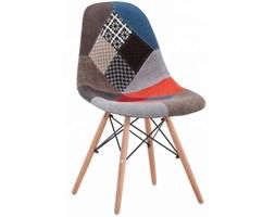 Nowoczesne krzesła tapicerowane skandynawskie materiałowe - Patchwork