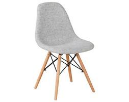 Nowoczesne krzesła Tapicerowane skandynawskie materiałowe - szare