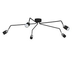 Lampa sufitowa nowoczesna reflektorek spot pająk JOKER V czarny śr. 132cm