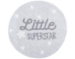 Dywan Little Superstar Ø120 cm jasnoszary