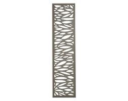 Moduł dekoracyjny Blooma Neva aluminiowy 44 x 179 cm taupe