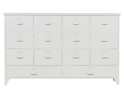 Woood :: Komoda/ szafka Archive z szufladami metalowa biała