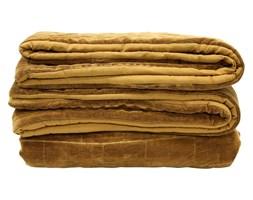 HK Living :: Miękka bawełniana narzuta na łóżko w kolorze brunatno-żółtym(230x250)