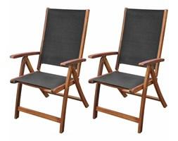 Krzesło ogrodowe DIOS komplet 2 sztuk meble drewniane 5 pozycji