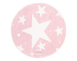 Dywan okrągły nowoczesny różowe Gwiazdki Art. 506 -pink