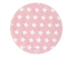 Dywan okrągły Mono 417 różowe Gwiazdki