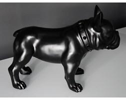 Figura buldoga w kolorze czarnym matowym A216