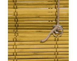 Roleta bambusowa rzymska, Promocja, Żółta, 140x160 cm