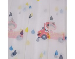 Firana do pokoju dziecięcego Lulu, na kołach, 140 x 240 cm, wóz strażacki