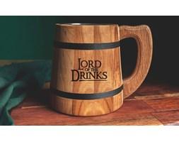 """""""Lord of the Drinks"""" drewniany kufel do piwa"""