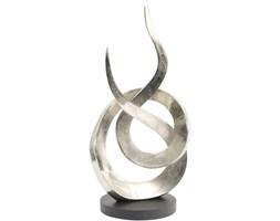 Rzeźba srebrna Eccleston Large 59 cm nowoczesna aluminium