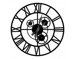 """Duży zegar metalowy """"Loft z trybami"""" 40cm"""