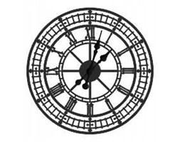 """Zegar ścienny metalowy """"Big Ben"""" 40cm z24/40/c"""