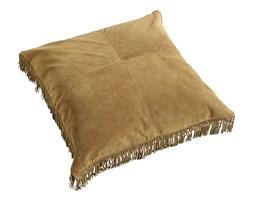 Poduszka skórzana w kolorze brązowym 80x80 cm Nordal