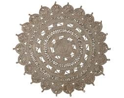 Dywanik jutowy okrągły naturalny ręcznie robiony 120 cm Lene Bjerre