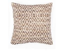 Pomarańczowo-brązowa poduszka we wzory Tiseco Home Studio Diamond, 45x45 cm