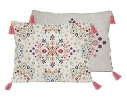 Dwustronna poszewka na poduszkę z domieszką lnu Madre Selva Flowers Tapestry, 50x35 cm
