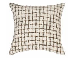 Beżowa poszewka na poduszkę we wzory Tiseco Home Studio Check, 45x45 cm
