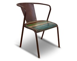 Indiathana - A 100% hand-made wood recovered from old houses and boats of Indian origin chair