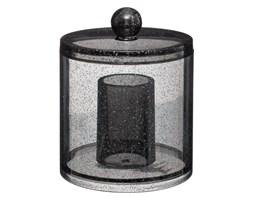Pojemnik na kosmetyki GLITTER S, 12 cm, kolor czarny