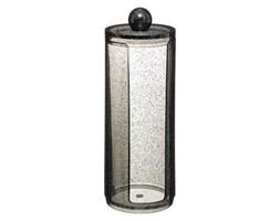 Pojemnik na płatki kosmetyczne GLITTER M, 19 cm, kolor czarny
