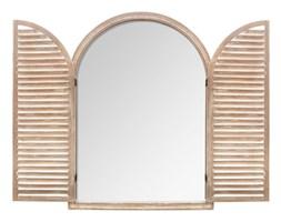 Lustro dekoracyjne WOOD WINDOW, 74x104 cm, kolor brązowy