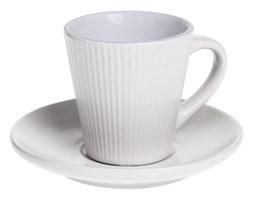 Filiżanka do espresso ELENA z talerzykiem, 100 ml, kolor biały