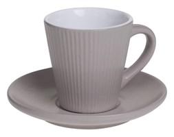 Filiżanka do espresso ELENA z talerzykiem, 100 ml, kolor beżowy