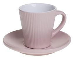 Filiżanka do espresso ELENA z talerzykiem, 100 ml, kolor różowy