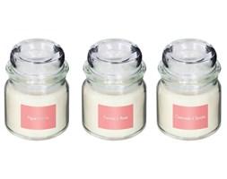 Komplet świec zapachowych: figa, różany, granat, 3 sztuki