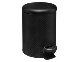 Kosz łazienkowy DOTS, 3 L, metalowy, kolor czarny