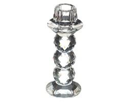 Świecznik szklany glamour, 16 cm