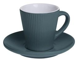 Filiżanka do espresso ELENA z talerzykiem, 100 ml, kolor morski
