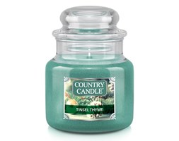 Country Candle - Tinsel Thyme - Mały słoik (104g)