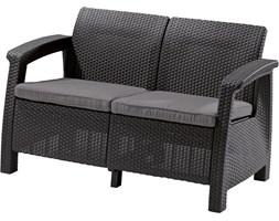 OUTLET - Sofa z tworzywa do ogrodu Curver Corfu Love Seat antracyt