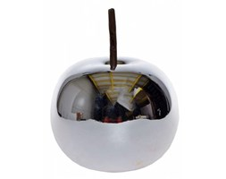 Jabłko ceramiczne srebrne duże