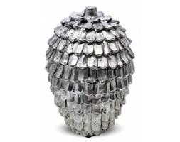 Szyszka ozdobna srebrna