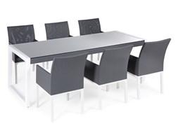 Zestaw ogrodowy szary - Taras - Balkon - Stół + 6 krzeseł - BACOLI