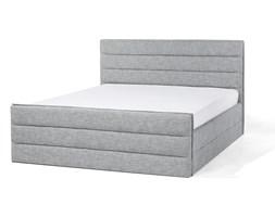 Łóżko jasnoszare tapicerowane 160 x 200 cm VALBONNE