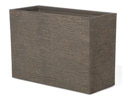 Doniczka ciemnobrązowa prostokątna 34 x 80 x 56 cm EDESSA