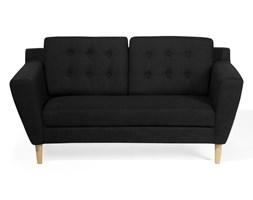 Sofa dwuosobowa tapicerowana czarna KUOPIO