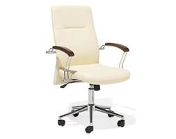 Krzesło biurowe beżowe regulowana wysokość ELECT