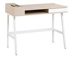 Biurko białe/jasne drewno 100 x 55 cm PARAMARIBO