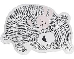 Poduszka dekoracyjna Animals 45x32 cm biało-różowa