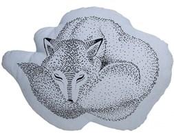 Poduszka dekoracyjna Sleeping Wolf 45x31 cm niebieska