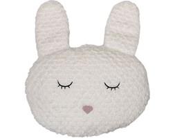 Poduszka dekoracyjna Bunny 36x33 cm biała