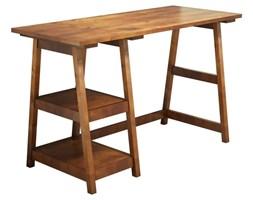 Brązowe biurko z litego drewna sosnowego Perla