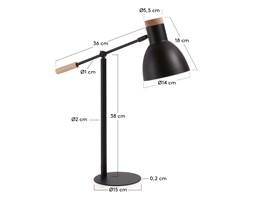 Lampa biurkowa ADALIA czarna