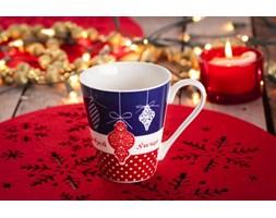 Kubek świąteczny VERONI GRANATOWE BOMBKI 250 ml - rabat 10 zł na pierwsze zakupy!